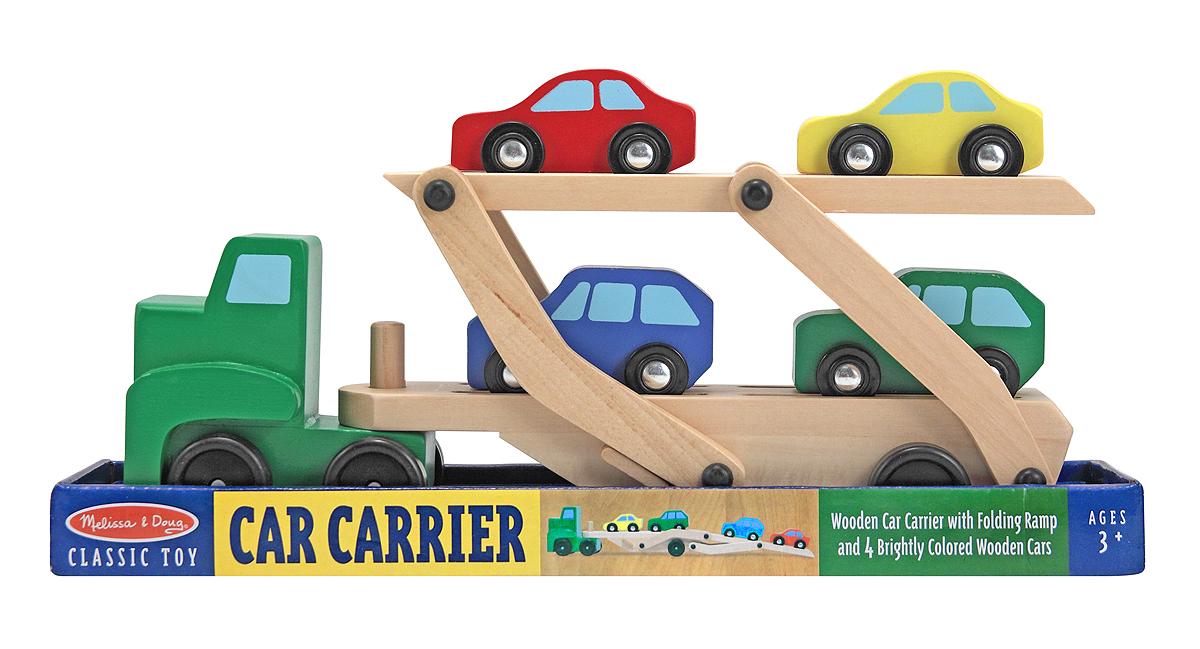 Melissa & Doug Обучающая игра Машинка для перевозки автомобилей motormax motormax грузовик для перевозки автомобилей с 3 машинками