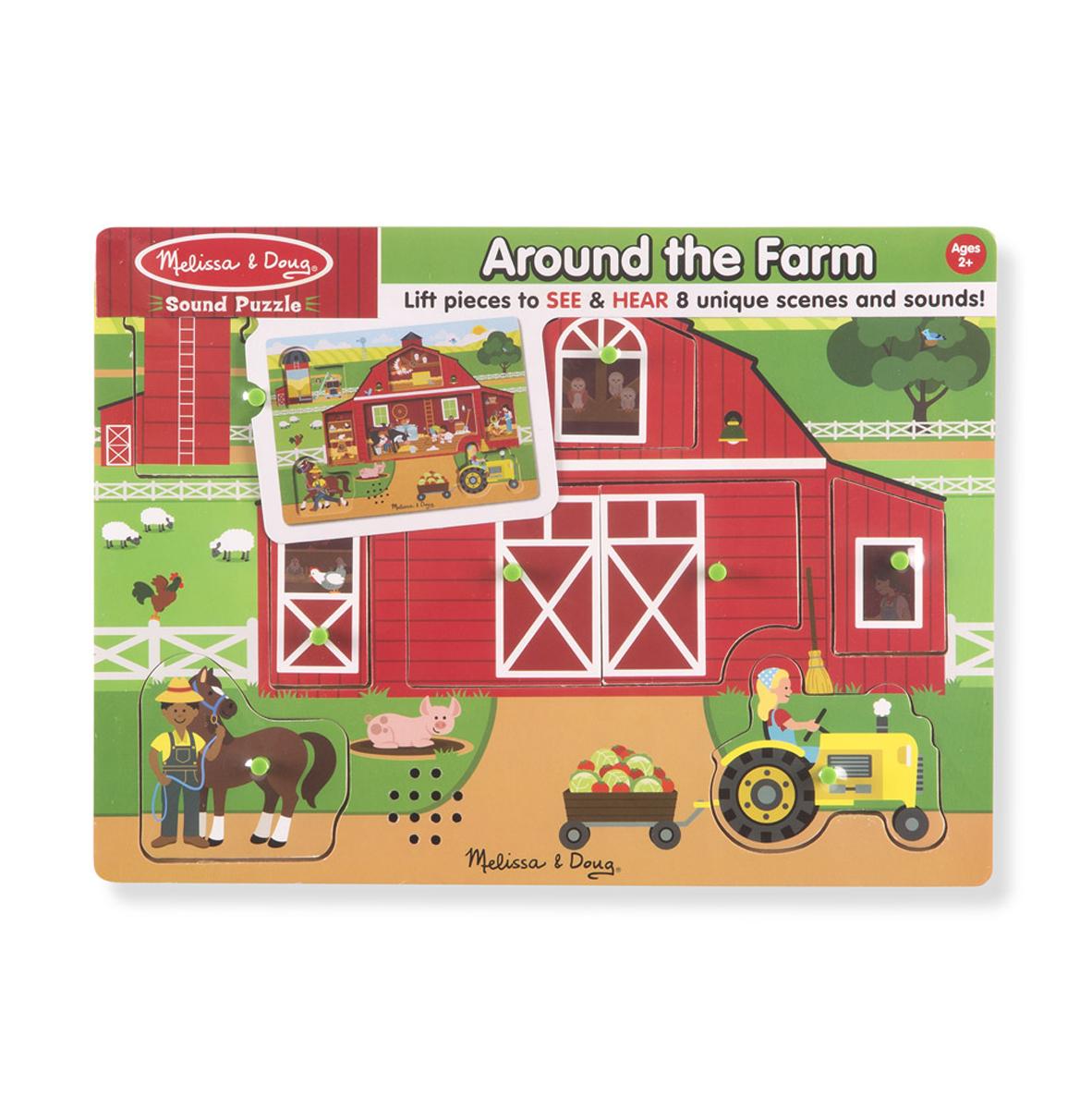 Melissa & Doug Пазл со звуком Вокруг фермы tomy farm приключения трактора джонни и поросенка на ферме
