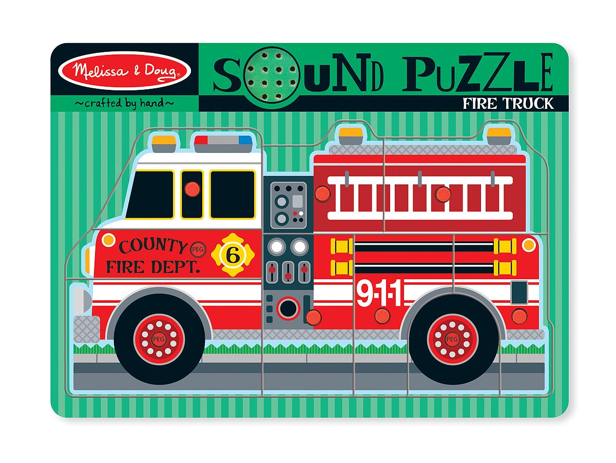 Melissa & Doug Пазл со звуком Пожарная машина машина заглаживающая со 335