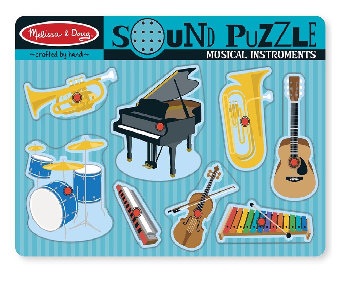 Melissa & Doug Пазл со звуком Музыкальные инструменты 8 элементов инструмент набор инструментов melissa