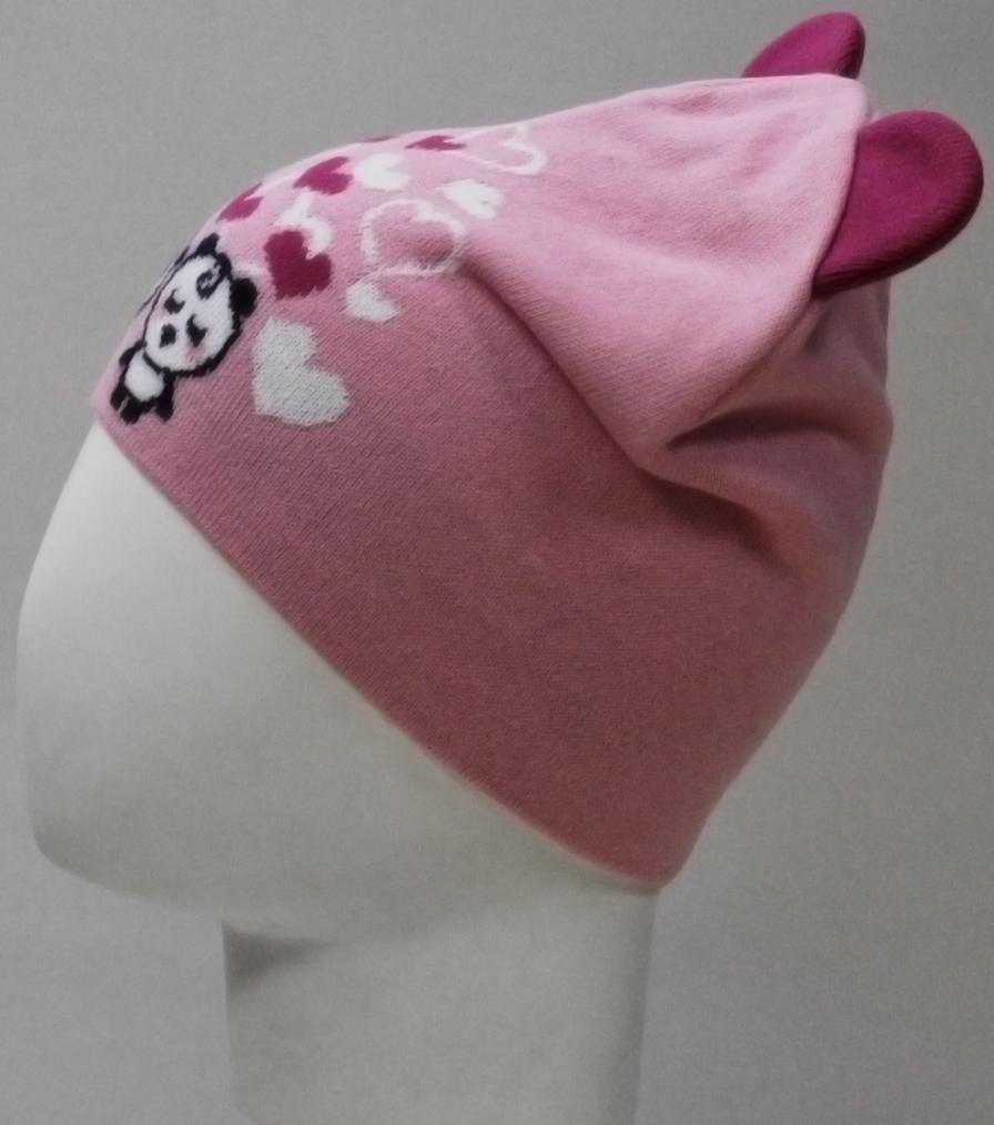 Шапка для девочки Marhatter, цвет: светло-розовый. MDH8212. Размер 48/50MDH8212Хлопковая шапка Marhatter для девочки. Жаккардовый узор в сочетании с ушками дополняет озорной образ. Уважаемые клиенты!Размер, доступный для заказа, является обхватом головы.