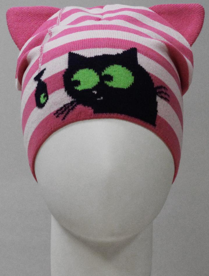 Шапка для девочки Marhatter, цвет: розовый. MDH8211. Размер 48/50MDH8211Хлопковая шапка Marhatter для девочки. Жаккардовый узор в сочетании с ушками дополняет озорной образ. Уважаемые клиенты!Размер, доступный для заказа, является обхватом головы.