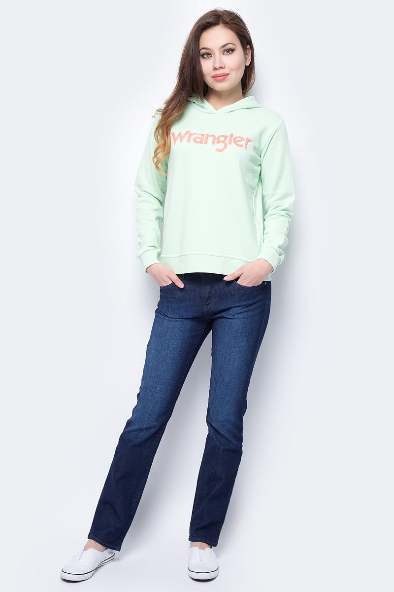 Джинсы женские Wrangler Straight, цвет: синий. W28T9186N. Размер 31-32 (46/48-32) wrangler wr224amlir98 wrangler