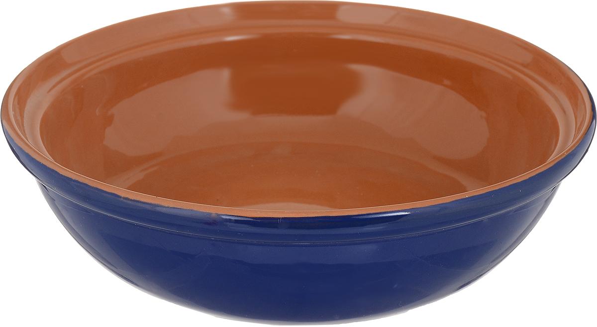 Салатник Борисовская керамика Модерн, цвет: синий, коричневый, 1 лРАД00000830_синий, коричневыйСалатник Борисовская керамика Модерн, цвет: синий, коричневый, 1 л
