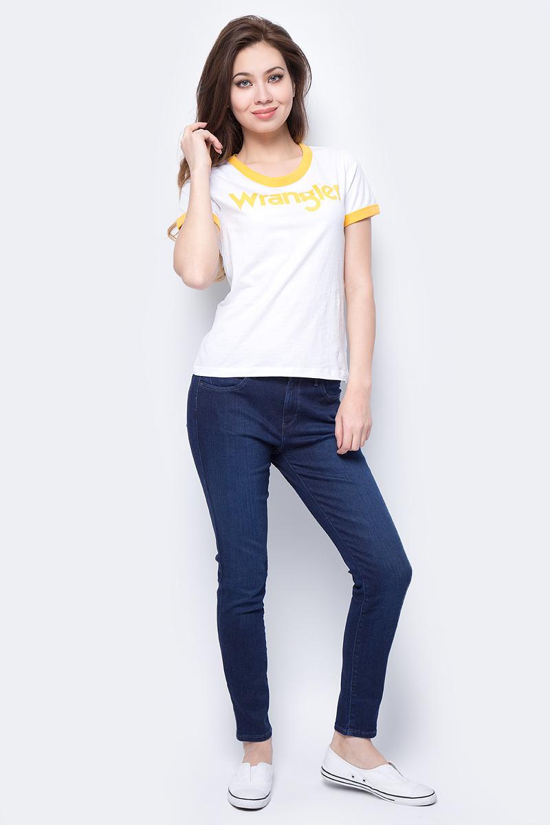 Футболка женская Wrangler, цвет: синий. W716SEVUR. Размер S (42) ботинки wrangler wrangler wr224amlir98