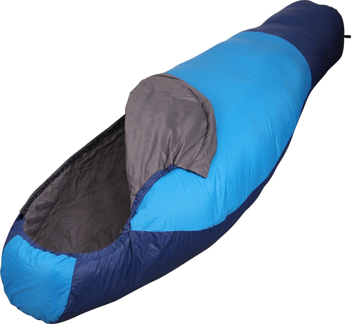 Мешок спальный Сплав Antris 60, левосторонняя молния, цвет: голубой, 220 x 85 x 55 см мешок спальный сплав ranger 2 левосторонняя молния цвет зеленый 210 x 80 x 55 см