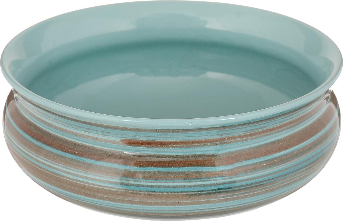 Тарелка глубокая Борисовская керамика Скифская, цвет: мятный, 800 млРАД14457937_полоски_мятныйГлубокая тарелка Борисовская керамика Скифская выполнена из высококачественной керамики. Изделие сочетает в себе изысканный дизайн с максимальной функциональностью. Она прекрасно впишется в интерьер вашей кухни и станет достойным дополнением к кухонному инвентарю.Тарелка Борисовская керамика Скифская подчеркнет прекрасный вкус хозяйки и станет отличным подарком.Можно использовать в духовке и микроволновой печи.Диаметр тарелки (по верхнему краю): 16 см. Объем: 800 мл.