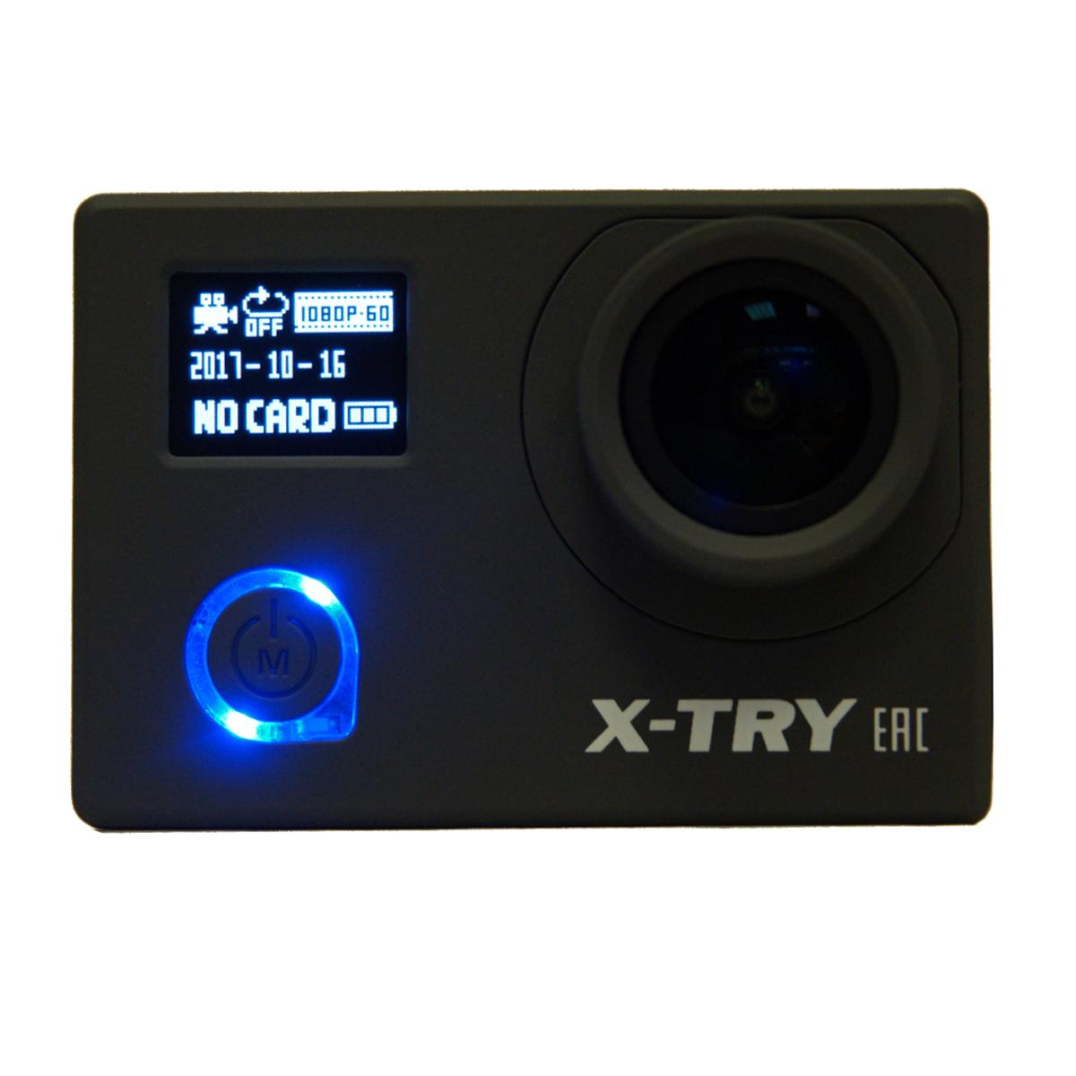 X-Try XTC242 UltraHD 4K WiFi + Autokit цифровая экшн-камераXTC242Компактная экшн-камера X-TRY XTC240 идеально подходит для записи видеороликов и фотографий в экстремальных условиях. В комплект входят разнообразные крепления, позволяющие закрепить камеру под нужным углом практически где угодно, водонепроницаемый бокс для погружения на глубину до тридцати метров, а наличие фронтального дисплея дает пользователю больше дополнительной информации во время съемки. Гаджет имеет широкоугольный объектив с большой апертурой, производительным процессором и светочувствительной матрицей. Это позволяет камере снимать видео разрешением UHD 4K со скоростью до 24 кадров в секунду. Присутствует режим съемки в слабоосвещенных услових - Starlight Night Vision. Функция интервальной записи Timelapse, фронтальный экран и стабильное изображение даже при быстром движении позволяют запечатлеть увлекательные приключения и спортивные состязания. Благодаря встроенному передатчику Long-Range Wi-Fi камерой можно управлять со смартфона на расстоянии до 30 метров и оперативно передавать записанные видеофайлы. X-TRY XTC240 может работать в качестве видео-регистратора, в комплект поставки входит так же автомобильный держатель на стекло и АЗУ. Работы заряжаемого аккумулятора на 1050 mAh хватает на 1 час.