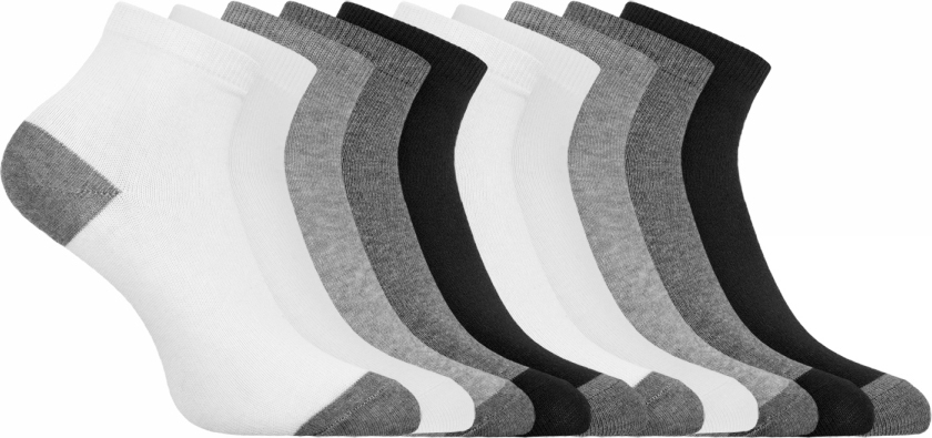 Носки женские oodji Collection, цвет: разноцветный, 10 пар. 57102418T10/47469/19U8B. Размер 38/4057102418T10/47469/19U8BНабор из десяти пар укороченных хлопковых носков от oodji. Хлопковые носки гигиеничны – в них кожа дышит и нет риска возникновения раздражений. Благодаря небольшому добавлению эластана носки тянутся и хорошо держат форму даже после многочисленных стирок. Такие носки прекрасно подойдут для разной погоды.Набор из десяти пар носков отличается практичностью и универсальностью. Вам не нужно будет долго искать носки, подходящая пара быстро найдется, а вы потратите минимальное время на сборы. Укороченные носки прекрасно подходят для спорта и отдыха. Они хорошо сочетаются с кроссовками, кедами, ботинками. Такие носки остаются незаметны под обувью и одеждой и при этом позволяют вам чувствовать себя комфортно и непринужденно.