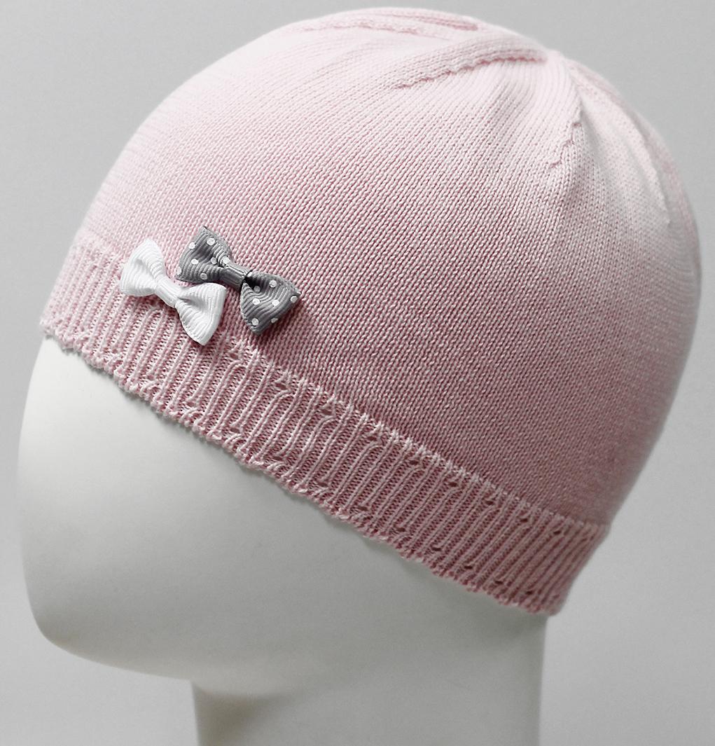 Шапка для девочки Marhatter, цвет: светло-розовый. MDH7226. Размер 44/46MDH7226Хлопковая шапка для маленьких принцесс. Модель дополнена изящными объемными бантиками. Представлена в 3-х размерах для детей от 3 мес. до 1 года.