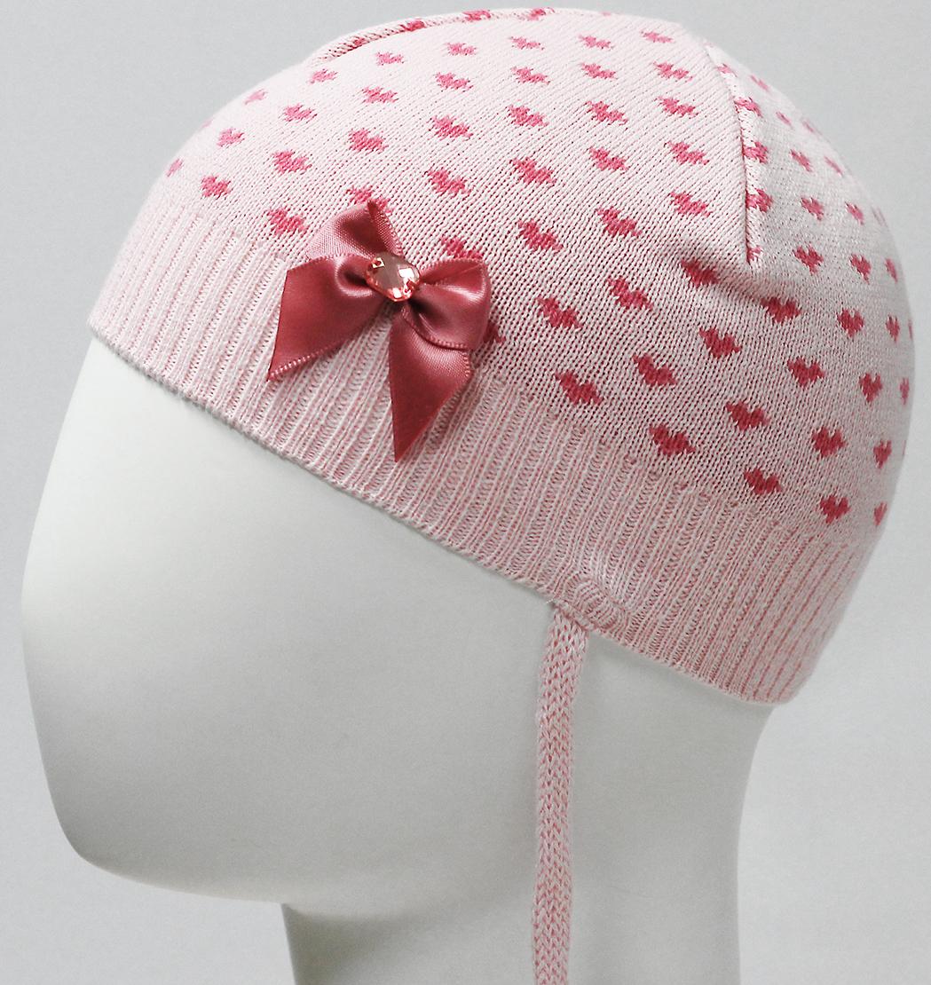 Шапка для девочки Marhatter, цвет: светло-розовый. MDH7223. Размер 40/42 шапка для девочки marhatter цвет светло розовый mdh7223 размер 40 42