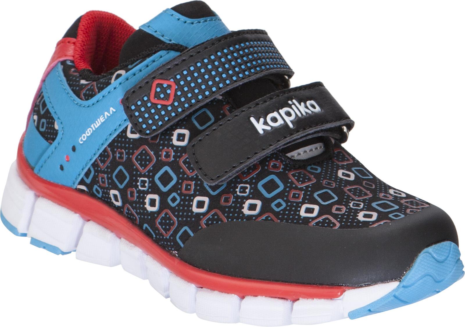 Кроссовки для мальчика Kapika, цвет: черный. 72253с-1. Размер 2872253с-1Детские кроссовки изготовлены из качественной искусственной кожи и текстиля. Ремешки с липучками надежно зафиксируют модель на ноге. Подошва из прочного полимера дополнена рифлением. Внутренняя поверхность и стелька из текстиля комфортны при движении. Кроссовки займут достойное место в гардеробе и подарят комфорт.