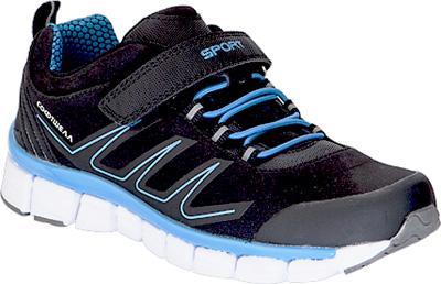Кроссовки для мальчика Kapika, цвет: черный, синий. 73339с-1. Размер 3773339с-1