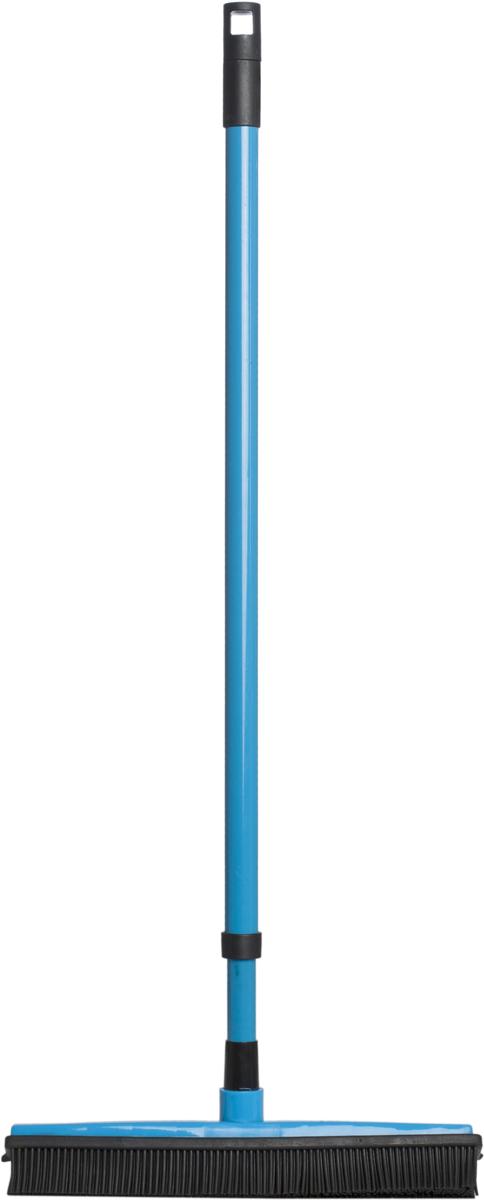 Щетка Rozenbal Basic, для пола, резиновая, с телескопической ручкой, цвет: малиновый. R810016R810016