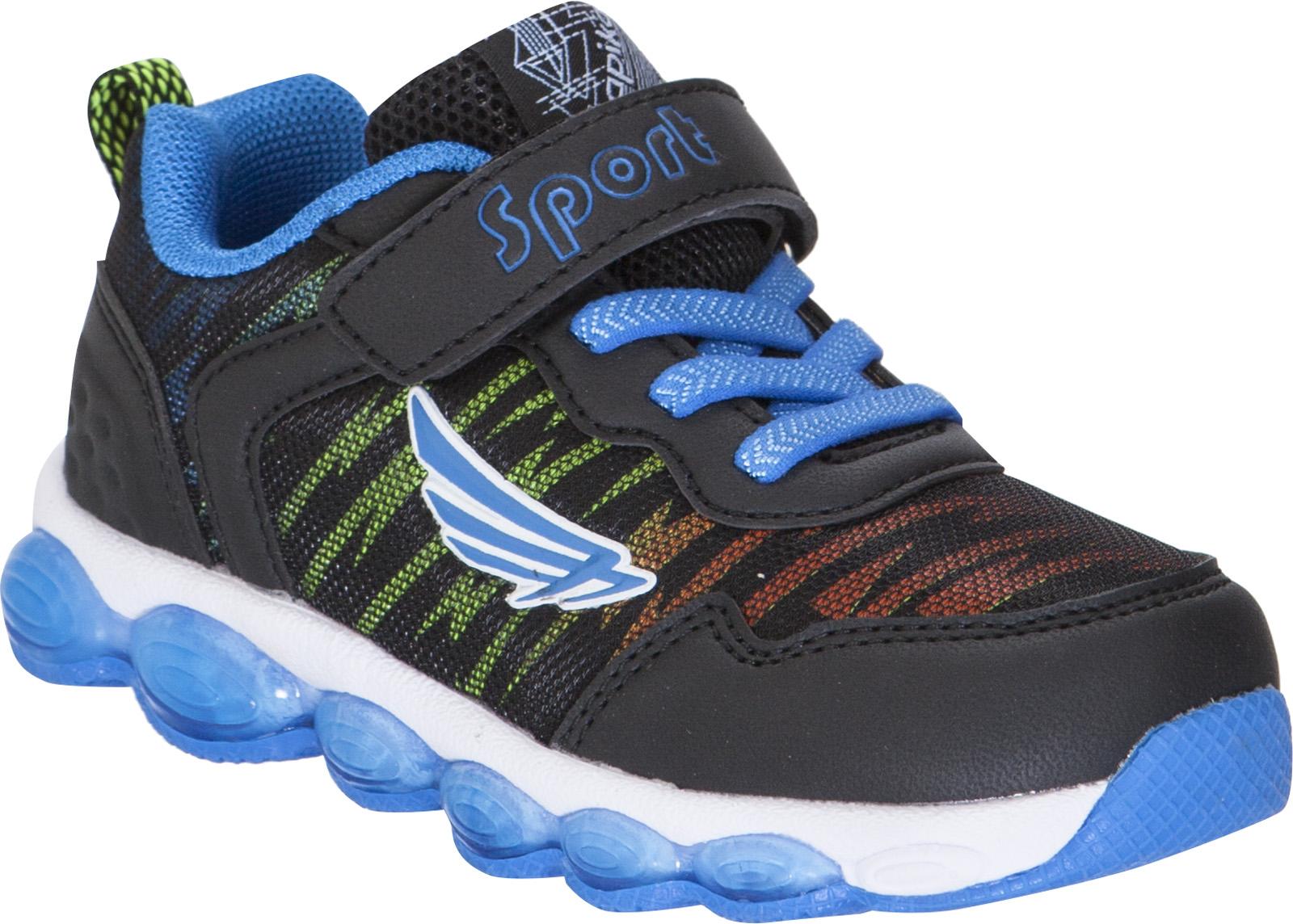 Кроссовки для мальчика Kapika, цвет: черный, синий. 72270-2. Размер 2572270-2