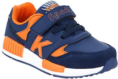 Кроссовки для мальчика Kapika, цвет: темно-синий, оранжевый. 72172-4. Размер 3072172-4