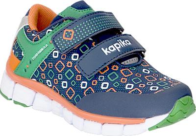 Кроссовки для мальчика Kapika, цвет: темно-синий, зеленый. 71253с-2. Размер 2371253с-2