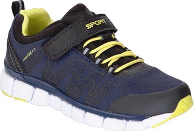 Кроссовки для мальчика Kapika, цвет: темно-синий, желтый. 74224с-2. Размер 3974224с-2