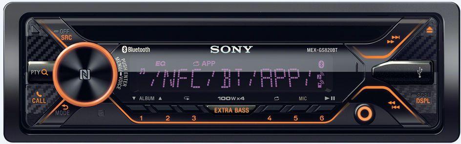 Sony MEX-GS820BT автомагнитолаMEXGS820BT.EURНаслаждайтесь простым управлением и глубоким, чистым звуком, буквально заполняющим салон автомобиля. Вы легко получите доступ к музыке, навигации, обмену сообщениями и функциям вызовов благодаря новому улучшенному интерфейсу и голосовому управлению. А технология EXTRA BASS и мощный усилитель оживят каждый трек. Технология NFC позволяет мгновенно подключать телефон по BLUETOOTH®, просто коснувшись им регулятора громкости на ресивере. Встроенный четырехканальный усилитель обеспечивает невероятный уровень мощности, который ранее был доступен только с внешними усилителями.К этому ресиверу можно подключить по Bluetooth® сразу два смартфона: один — для полноценного использования функций связи, навигации и воспроизведения музыки, а второй — для возможности совершать и принимать звонки в режиме hands-free. Создайте в пути атмосферу ночного клуба. Экран и сам ресивер подсвечиваются разными цветами, которые синхронизируются с музыкальным ритмом. Вы легко настроите основные элементы управления звуком на рулевом колесе без преобразователя сигналов (в совместимых автомобилях).