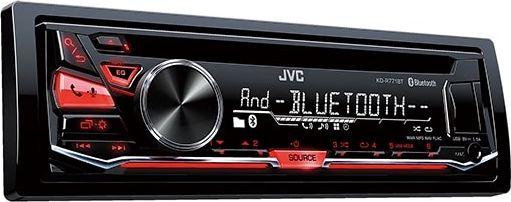 JVC KD-R771BT автомагнитолаKD-R771BTЦифровой медиа-ресивер с входами USB и AUX на передней панели Встроенный модуль Bluetooth (микрофон в комплекте) Вызовы Hands Free (профиль HFP 1.6) Воспроизведение потокового аудио (профили A2DP, AVRCP) Голосовой вызов Режим Siri Eyes Free для iPod/iPhone Одновременное подключение двух телефонов Доступ к телефонной книге (профиль PBAP) Автоматическое сопряжение для iPhone и Android