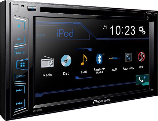 Pioneer AVH-290BT автомагнитолаAVH-290BTНаслаждайтесь любимым контентом на большом 6,2-дюймовом сенсорном экране Clear Type прямо на приборной панели вашего автомобиля. Возьмите свою цифровую коллекцию музыки и видео с собой в дорогу. AVH-290BT воспроизводит аудио/видео практически с любого источника, будь то CD/DVD-диск, портативный музыкальный проигрыватель или последний iPhone. Кроме того, эта мультимедийная система имеет встроенный Bluetooth-модуль, что позволяет прослушивать музыку без проводов или совершать телефонные вызовы.