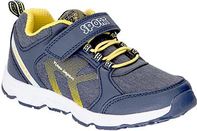 Кроссовки для мальчика Kapika, цвет: темно-синий . 73346с-1. Размер 3473346с-1Детские кроссовки от Kapika изготовлены из качественной искусственной кожи и текстиля. Ремешки с липучками и шнуровка обеспечивают надежную фиксацию модели на ноге. Внутренняя поверхность из текстиля комфортна при движении. Рифленая подошва обеспечивает хорошее сцепление с поверхностью.