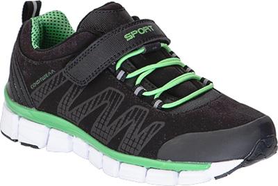 Кроссовки для мальчика Kapika, цвет: черный, зеленый. 74224с-1. Размер 3674224с-1