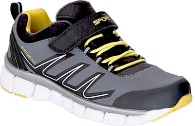 Кроссовки для мальчика Kapika, цвет: серый, желтый. 73339с-2. Размер 3473339с-2