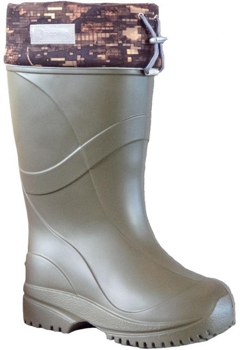 Сапоги зимние мужские Дарина Иваныч, цвет: оливковый. Размер 45-46