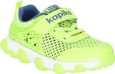 Кроссовки для мальчика Kapika, цвет: салатовый. 72246-3. Размер 2672246-3