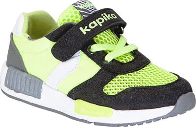 Кроссовки для мальчика Kapika, цвет: салатовый, черный. 72169-4. Размер 2672169-4