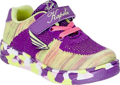 Кроссовки для девочки Kapika, цвет: фиолетовый. 72249-2. Размер 3272249-2