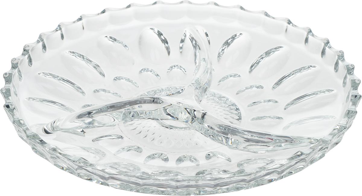 Менажница Isfahan Mina, 3 секции, диаметр 8 см743Менажница 3-х секционная - удобное и практичное блюдо, разделенное на секции, в каждую из которых вы можете положить различные вкусности. Менажница изготовлена из высококачественного стекла. Именно поэтому она отличаются особой износостойкостью и устойчивостью к ударам и сколам.