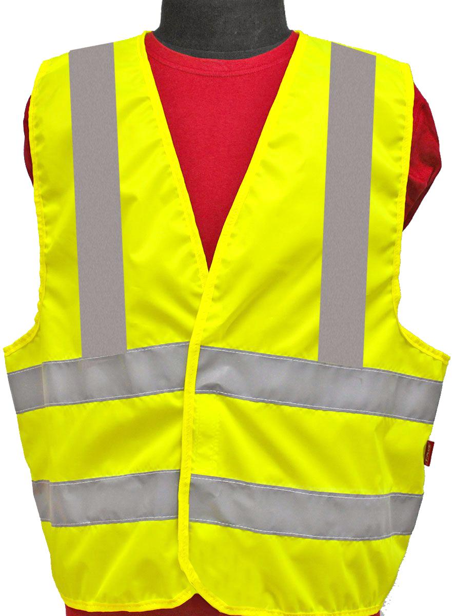 Жилет светоотражающий Tplus, класс защиты 3, цвет: желтый, серый, размер 48-50T014351Жилеты сигнальные (светоотражающие) способствуют повышению безопасности сотрудника на производстве и снижению риска травматизма на дорогах посредством визуального обозначения человека днем и обеспечения его видимости в темноте.Размер: 48-50 Материал: оксфорд 210 Сигнал 150 гр\м2 Цвет: лимон Ширина световозвращающей ленты: 50 мм Тип фиксации: двухсторонняя липучка Соответсвует ГОСТ 12.4.281-2014 Класс защиты: 3 (увеличенная площадь отражающих элементов)
