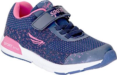 Кроссовки для девочки Kapika, цвет: темно-синий, фуксия. 72255-2. Размер 3072255-2