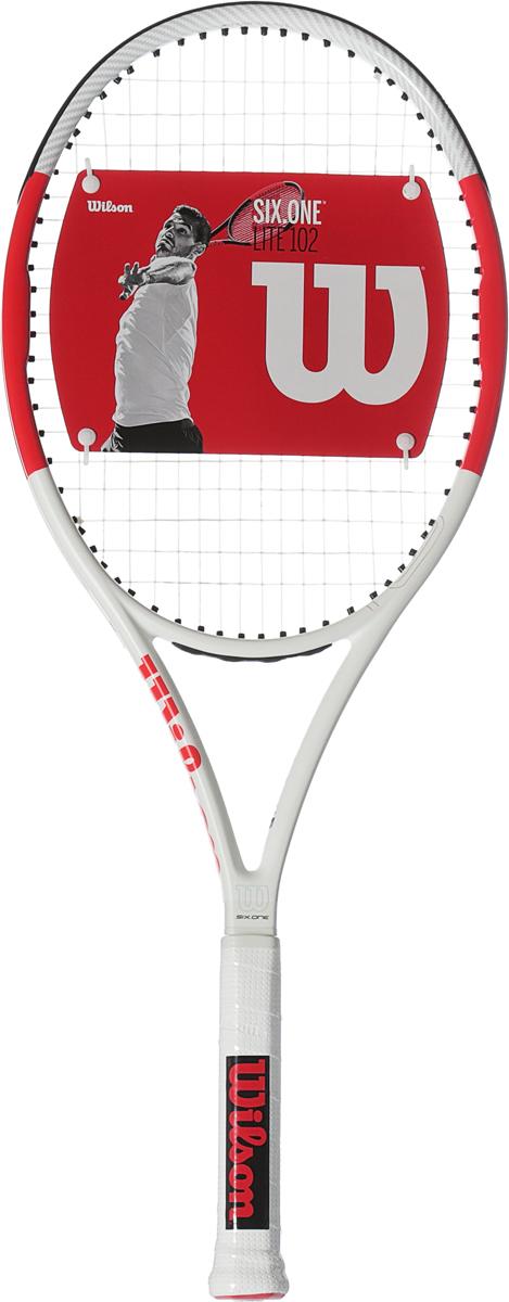 Ракетка теннисная Wilson Six.One Lite 102 Rkt W/O Cvr 1 теннисная ракетка prince 7t35