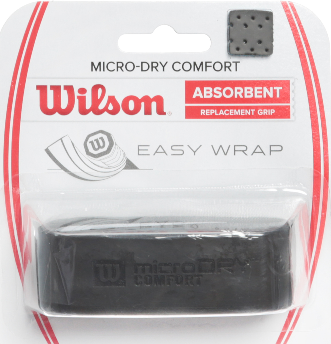 Намотка для ракетки Wilson Micro-Dry Comfort Replacement Grip BlackWRZ4211BKБазовая намотка Wilson Micro-Dry Comfort предлагает уникальную подложку, которая обеспечивает максимальную мягкость в ощущениях и комфорт. За счет перфорации обеспечивается дополнительное поглощение влаги.