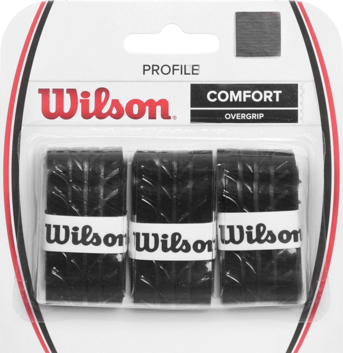 Намотка для ракетки Wilson Profile Overgrip BlackWRZ4025BKОвергрипп Profile - обладает уникальной насечкой, которая увеличивает чувство ракетки в руках. Идеально подходит для использования в любых тренировочных и турнирных условиях.Поставляется в черном цвете.