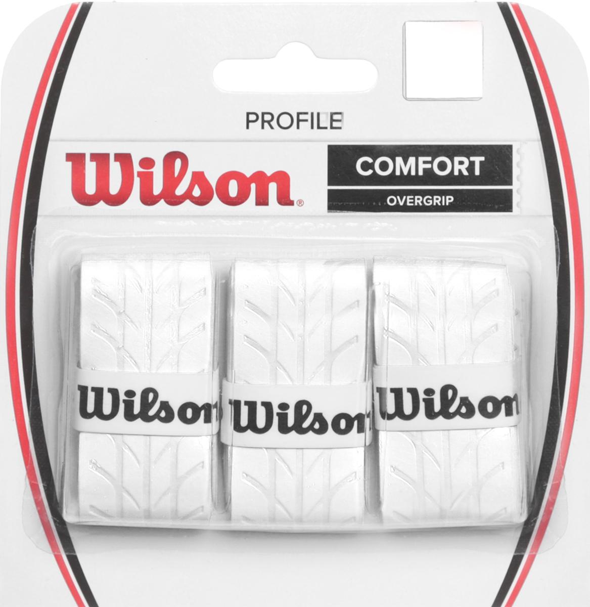Намотка для ракетки Wilson Profile Overgrip WhWRZ4025WHОвергрип Profile - обладает уникальной насечкой, которая увеличивает чувство ракетки в руках. Идеально подходит для использования в любых тренировочных и турнирных условиях.Поставляется в белом цвете.