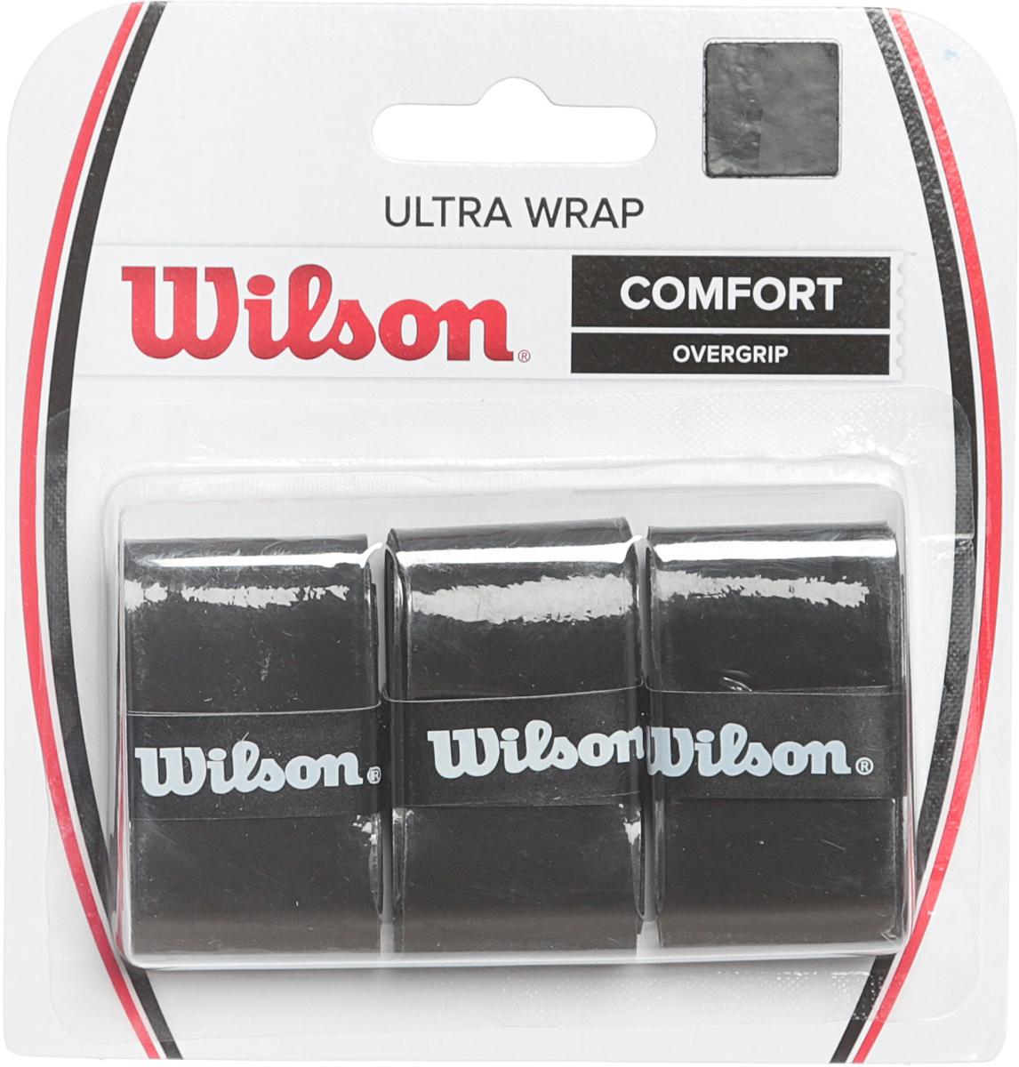Намотка для ракетки Wilson Ultra Wrap Overgrip Bk 3 PkWRZ403000Овергрип Ultra Wrap Overgrip - уверенность и свобода в каждом движении.Выбор теннисистов нуждающихся в дополнительном комфорте.Поставляется в черном цвете.