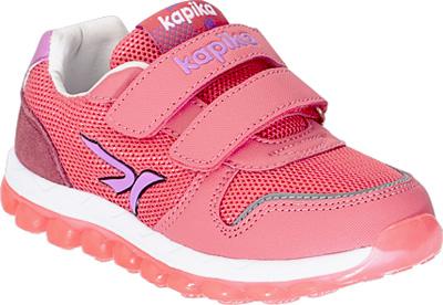 Кроссовки для девочки Kapika, цвет: коралловый. 72272-2. Размер 2872272-2Детские кроссовки изготовлены из качественной искусственной кожи и текстиля. Ремешки с липучками надежно зафиксируют модель на ноге. Подошва из прочного полимера дополнена рифлением. Внутренняя поверхность и стелька из кожи комфортны при движении. Кроссовки займут достойное место в гардеробе и подарят комфорт.