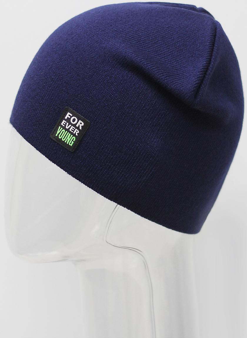 Шапка для мальчика Elfrio, цвет: темно-синий. RTH7453. Размер 55/56