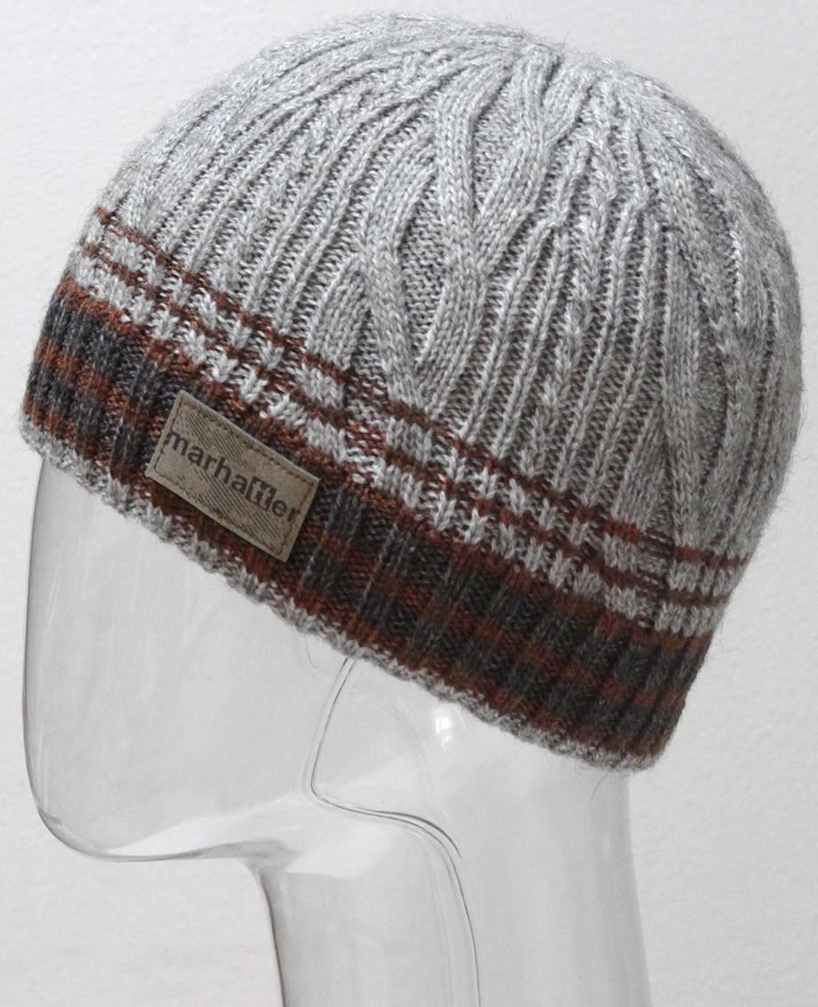 Шапка для мальчика Marhatter, цвет: серый, коричневый. MTH6956/2. Размер 55/56MTH6956/2Стильная шапка с современным дизайном, выполненная только из высококачественных материалов, станет для Вас незаменимой вещью.