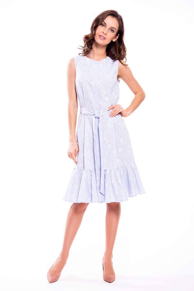 Платье Lusio, цвет: голубой. SS18-020020. Размер M (44/46)