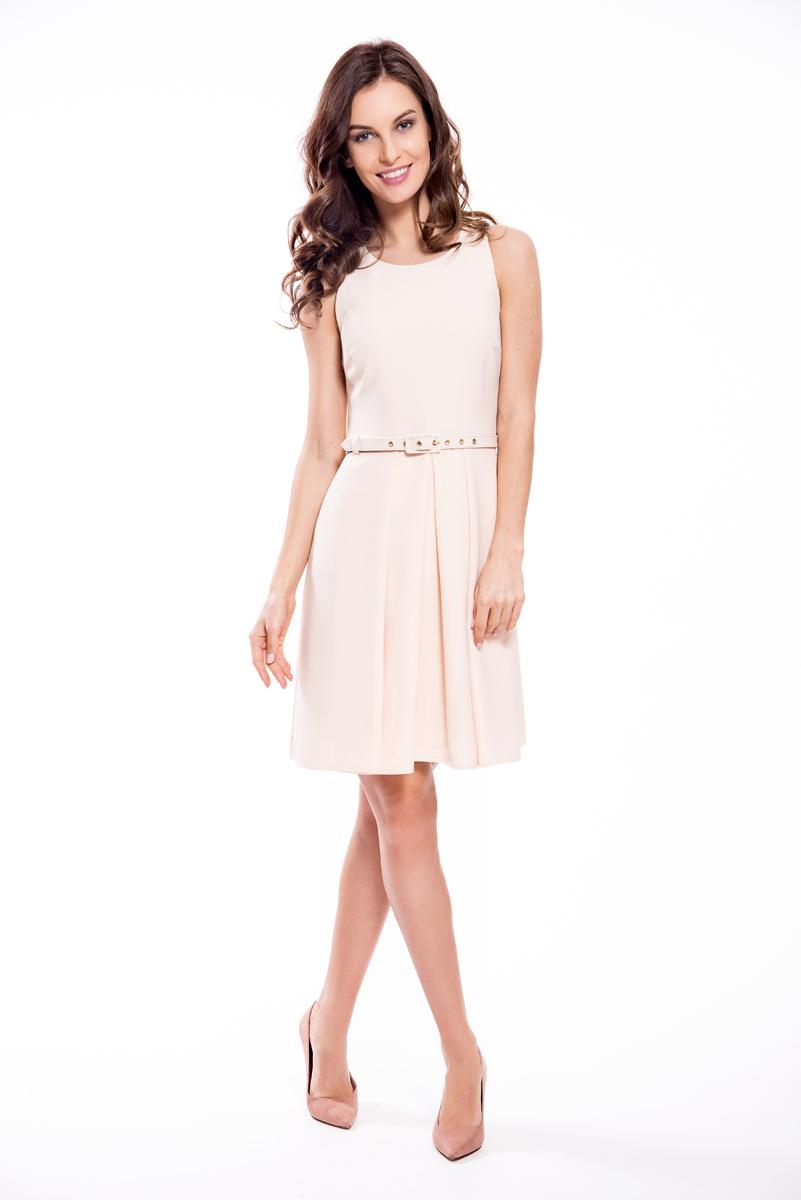 Платье Lusio, цвет: кремовый. SS18-020055. Размер XS (40/42)SS18-020055