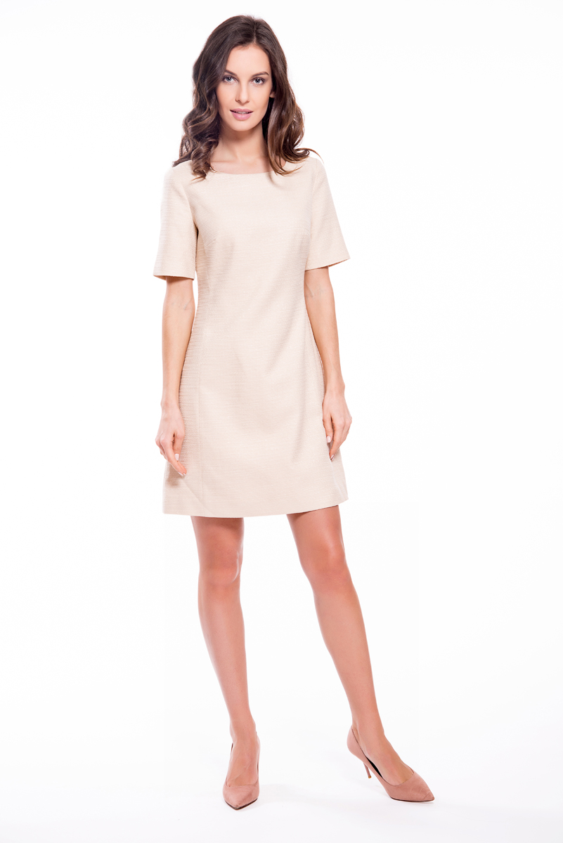 Платье Lusio, цвет: кремовый. SS18-020164. Размер XS (40/42)
