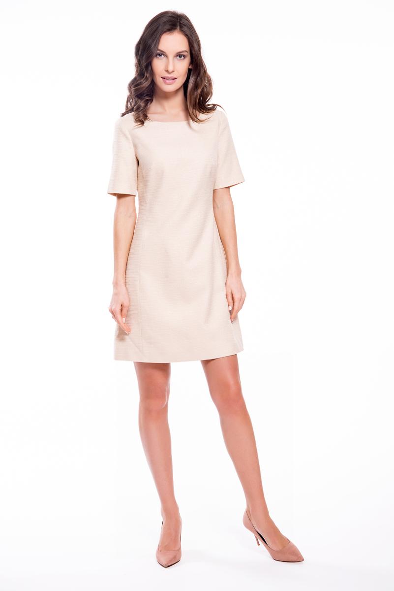 Платье Lusio, цвет: кремовый. SS18-020164. Размер S (42/44)SS18-020164