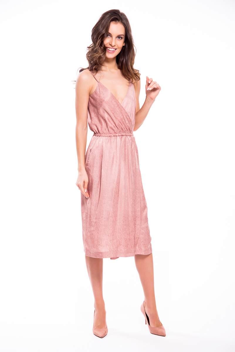 Платье Lusio, цвет: пудровый. SS18-020109. Размер L (46/48)SS18-020109