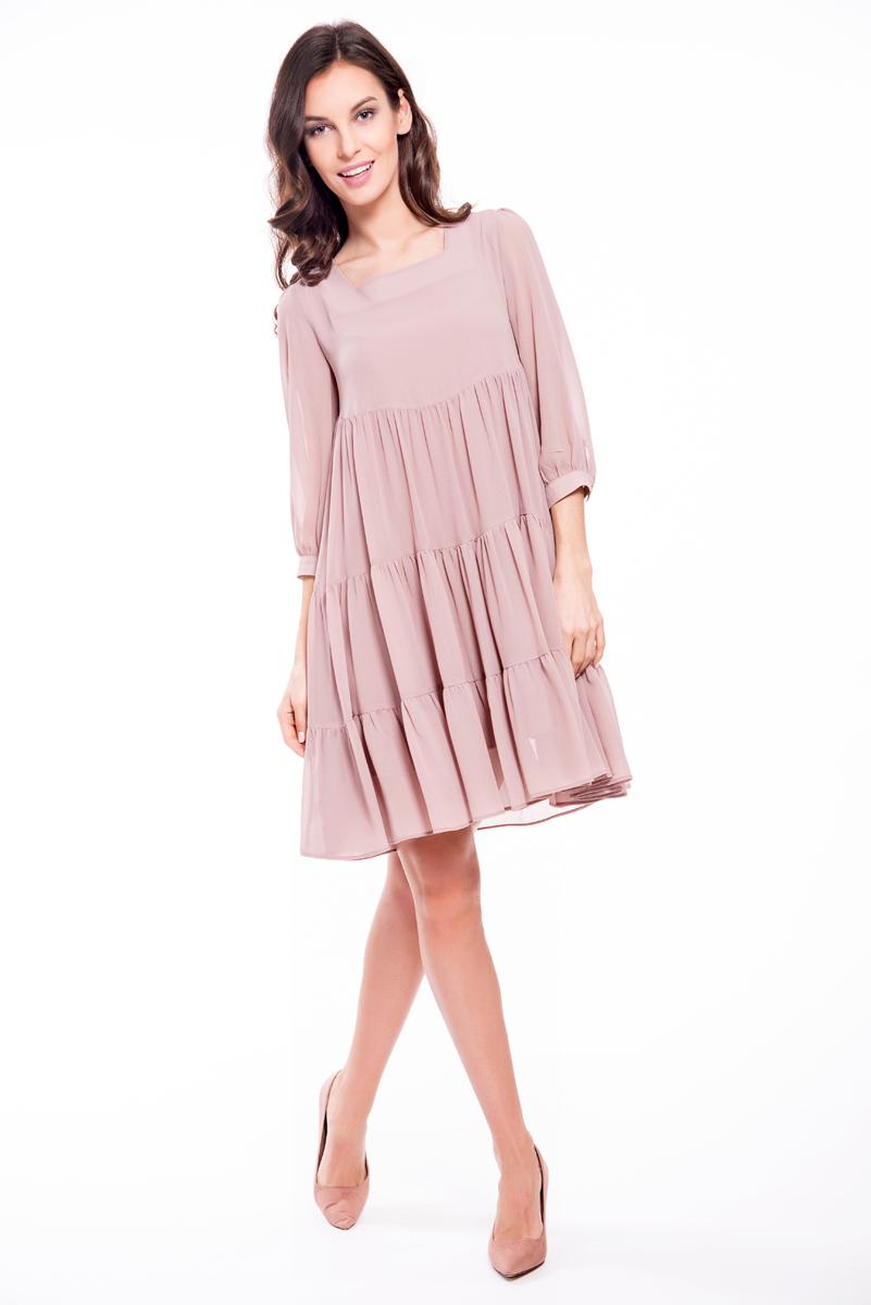 Платье Lusio, цвет: пудровый. SS18-020193. Размер XS (40/42)SS18-020193