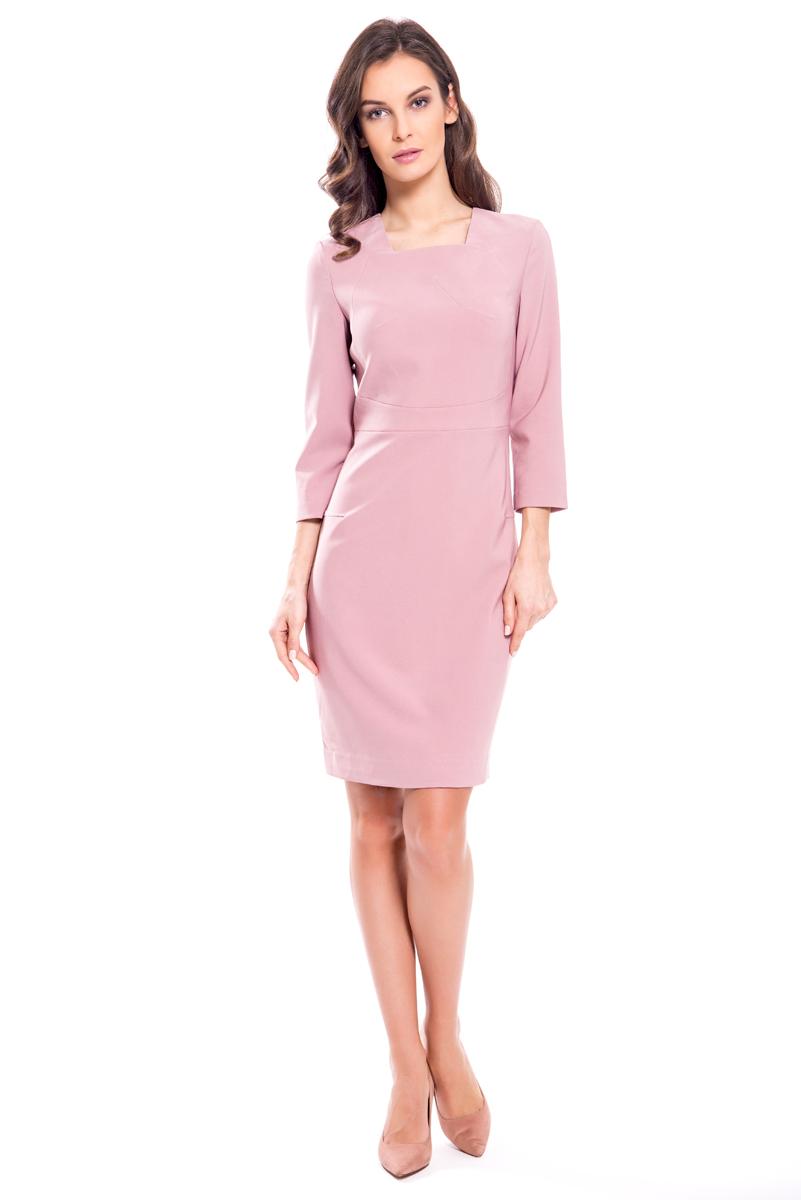 Платье Lusio, цвет: розовый. AW18-020129. Размер XS (40/42)
